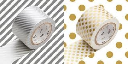 MTWIDE08Z_Wide H-Stripe silver x dot gold