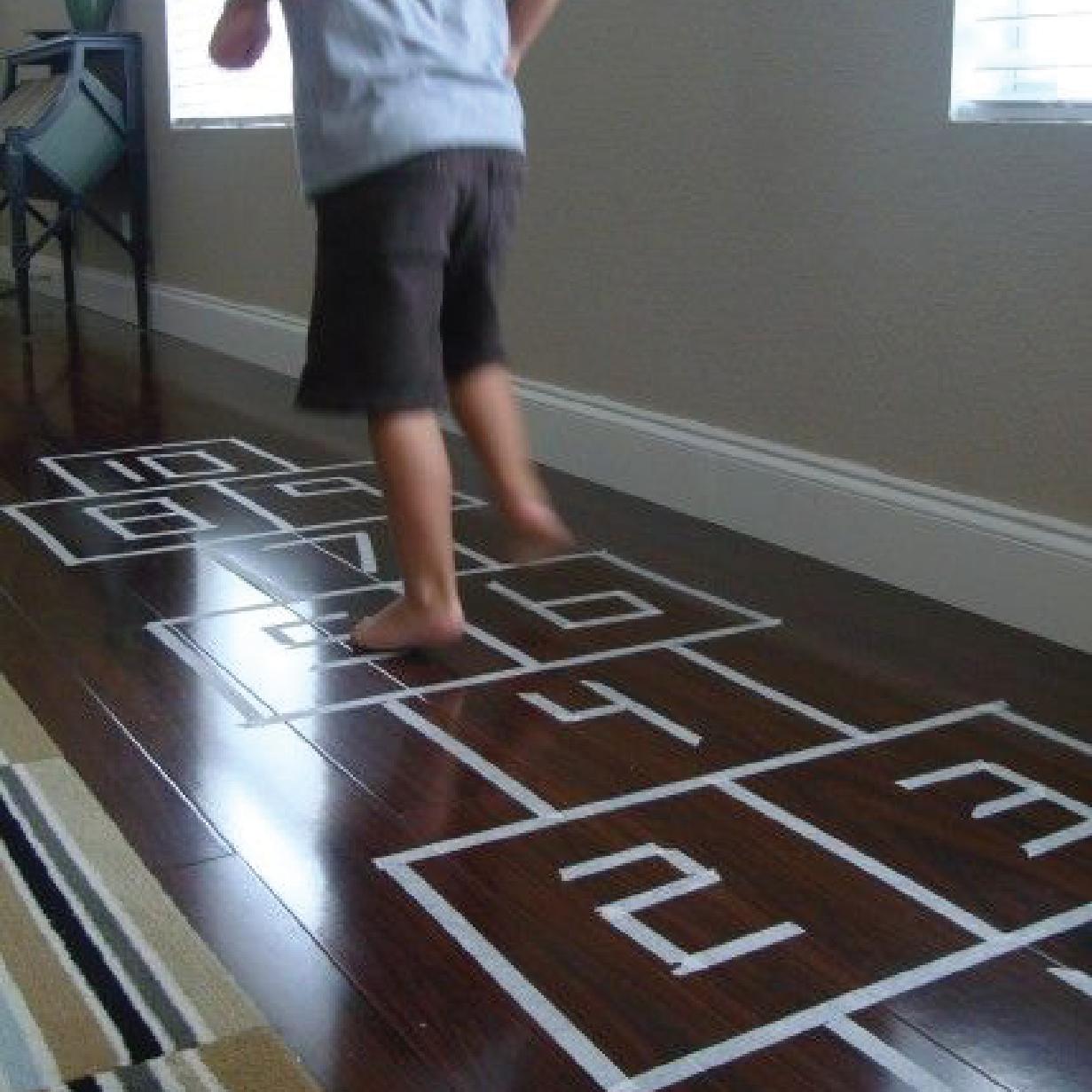 cinta adhesiva decorativa para piso